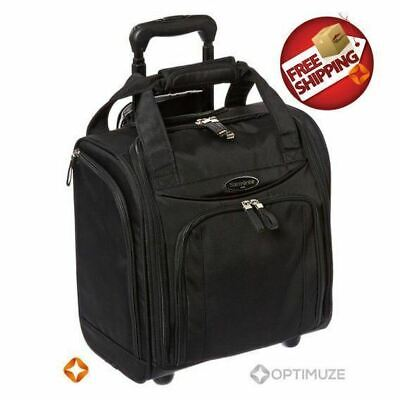 NEW Samsonite Suitcase Roll Bag Wheel Under Seater Small Black Carry On Luggage