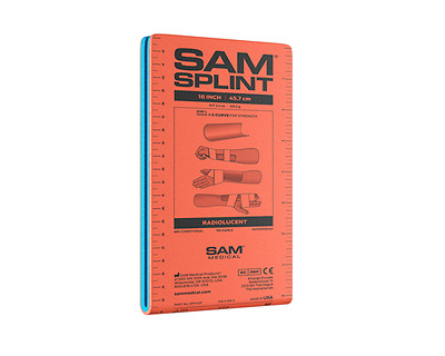 Sam Splint Samsplint Armschiene Original gefaltet 92x11cm orange
