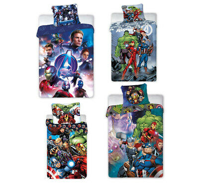 Marvel Comics the Avengers Bettwäsche 135x200 Baumwolle NEU Thor Hulk Ironman