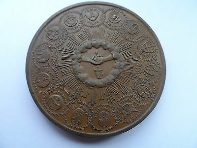Argentina Large Bronze Medal-The Union Of The Republic Of Argentina