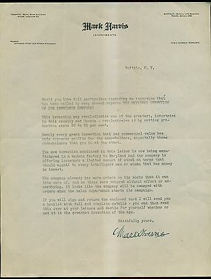 "1920's ""Greatest Invention of the Twentieth Century"" Stock Investment Letter"