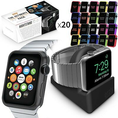 Orzly Apple Watch Series 2 (42 MM) Mini Stand & Protective Protective FacePlates
