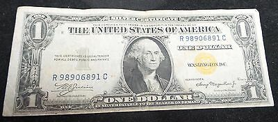 1935-A  $1 One Dollar Yellow Seal Silver Certificate North Africa
