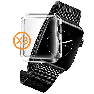 Orzly Brand Original Apple Watch Series 2 InvisiCase (38mm) 3 in 1 Pack