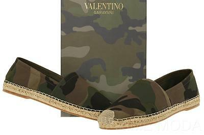 689d71bb7c808 New Valentino Garavani Men's Camo Canvas Espadrilles Slip On Shoes 41/Us 8