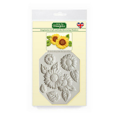 Katy Sue Designs SUNFLOWERS CE0066 Cake Crafting Mould  6 Designs + Leaves