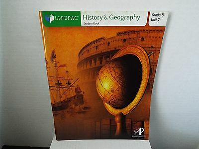 Lifepac Grade 8 History and Geography Unit 7 student book homeschool Alpha Omega