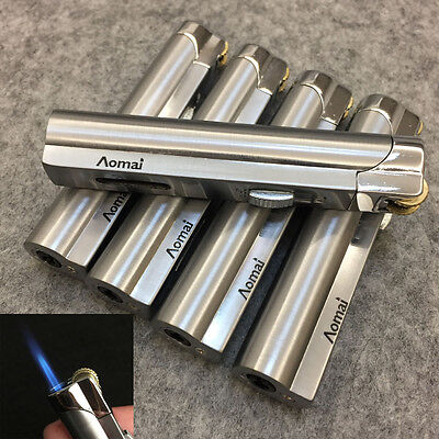 Lot 5pcs  Windproof  Jet  Torch Lock Flame Cigar Cigarette Flint Lighter Silver