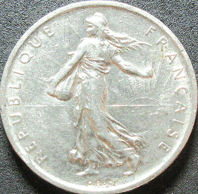 1960 France Silver Five Franc Coin