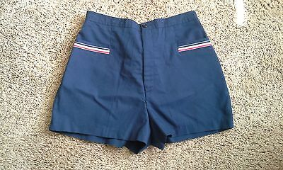Vintage NWT Deadstock Sears The Fashion Place Blue High Waist Shorts 70s Pin Up