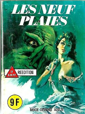 French 1970's Illustrated Erotic Horror Comic Les Neuf Plaies #66 Vg