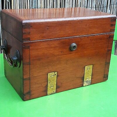 Antique Scientific Instrument Wooden Box Excellent Quality Sampson Mordan Lock.