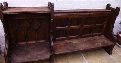 Reclaimed Church Pew Choristers Bench Choirmaster choirboys Antique Seat c1880