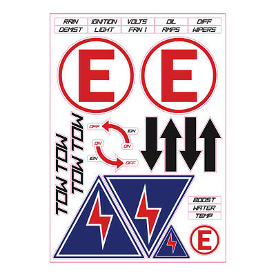 Tegiwa Pre-Cut Msa Safety Decal Stickers Sheet - Race Rally Track