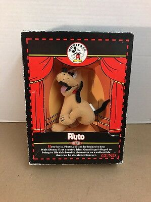 Mickey & Co. PLUTO Antique Plush Dog By GUND