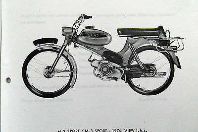 Puch M2 & M3 Sport  Illustrated Spare Parts Catalogue