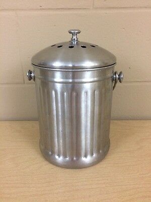 NORPro COUNTERTOP STAINLESS COMPOST BIN/ pail #95 & FILTER kitchen counter VGC