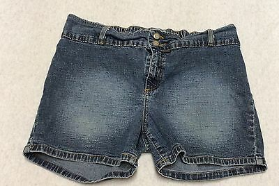 Motherdood Maternity Casual Walking Shorts Denim Jeans Stretch Waistband Sz S