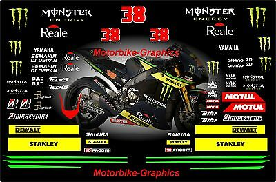 2015 Bradley Smith Moto GP Full race decals graphics Stickers Kit