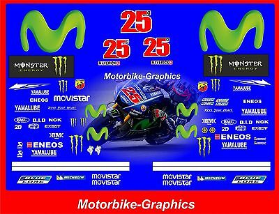 2017 MOVISTAR Vinales Moto GP Full race decals graphics Stickers Kit