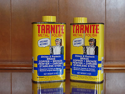 2 Cans - Vintage Tarnite Metal Polish for Brass Copper Stainless 100% & 60% Full