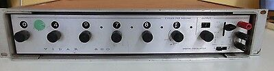 Vintage VIDAR 820 Audio Oscillator with Decade Frequency Selection Tested