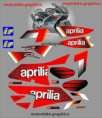 Aprilia RSV mille 1000r 2004  Full Decal Set Stickers