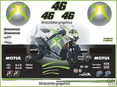 Moto gP X-Box Special Edition Race Decals Graphics