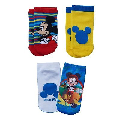 NEW Disney Socks Mickey Mouse Clubhouse Toddler Boys 3 Pair Pack 2-4T SHIPS FREE