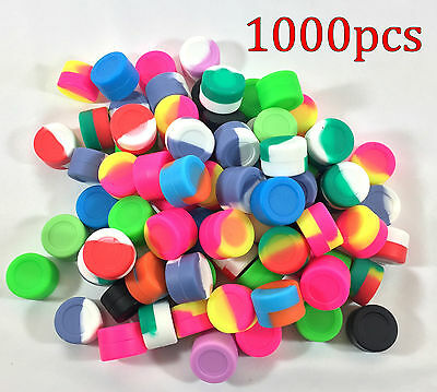 1000pcs 3ml Silicone Container Jar Non-Stick Mixed colors Round Wholesale lot