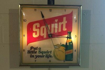 Vintage Pam Advertising Clock ~ Squirt Lemon-Lime Soda ~ Country Store