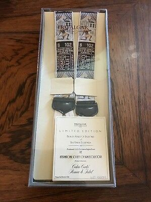 NIB Trafalgar Limited Edition Adjustable Suspenders Braces Black Romeo Juliet