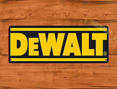 "TIN SIGN ""DeWalt Black"" Power Tools Tractor Farm Garage Wall Decor"