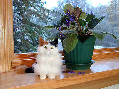KITTY CAT REALISTIC FURRY ANIMAL REPLICA meow voice cm310cal FREE SHIPPING USA