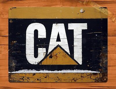 "TIN-UPS TIN SIGN ""Caterpillar Cat"" Vintage Heavy Equipment Rustic Wall Decor"