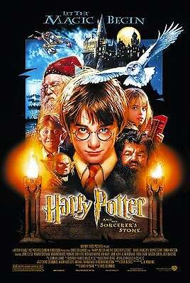 Harry Potter and the Sorcerer's Stone Movie Poster |5 Sizes| Book DVD BluRay