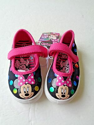 Disney Junior Minnie Mouse Girls Kid Toddler Summer Shoes Sneakers 5 ~ New