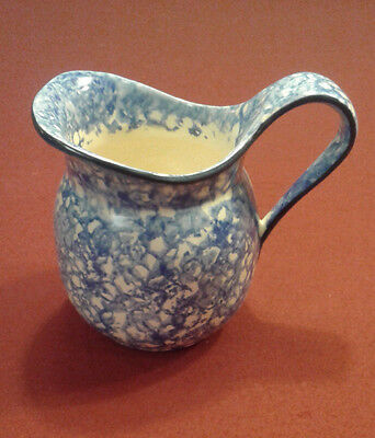 Stangl Pottery Town & Country Blue Spongeware Pitcher 28 Oz. REDUCED!