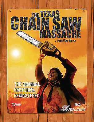 "TIN-UPS TIN SIGN ""Texas Chainsaw Massacre"" Movie Vintage Art Poster Decor"