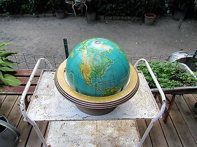 "Vintage Cram 12"" Globe without Hawaii - Physical/Political/Terrestrial & Holder"
