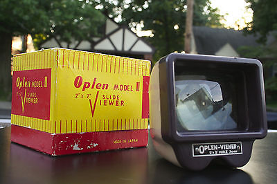 Vintage Oplen Slide Viewer Lighted 35mm Film Photography Made in Japan 60s Retro