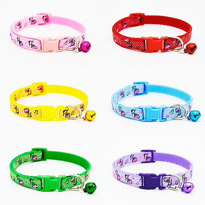 Cute Teacup Dog Collar Pet Puppy Cat Collars W/Bell Gift for Chihuahua yorkie