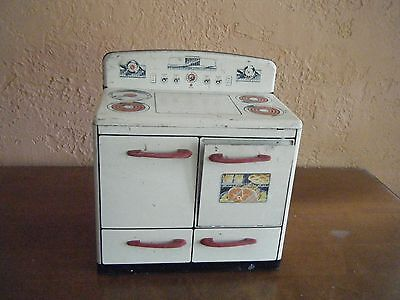 Vintage, 1950's metal play stove by Mar Toys