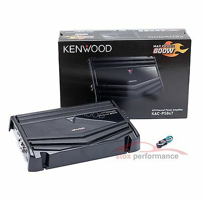 Kenwood KAC-PS847 4/3/2-Channel 800Watts Max Class-AB Car Audio Amplifier-New