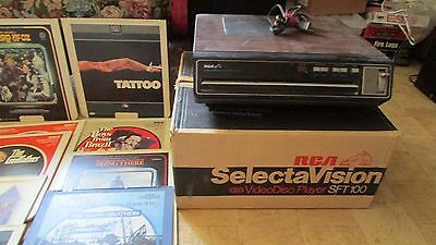 Vintage RCA SelectaVision VideoDisc Player - SFT100W With 68 Discs