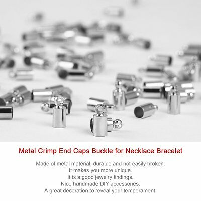 100pcs Metal Crimp End Caps Buckle Necklace Bracelet Chain Clasp DIY Jewel GT