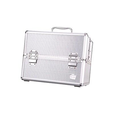 Large Silver Caboodles Goddess Cosmetic Train Case Makeup Travel Organizer Box