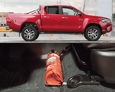 Toyota Hilux 2016+ Fire Extinguisher Bracket Vehicle New Safety Mount Automotive