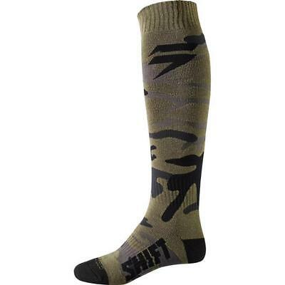 SHIFT MX WHIT3 WHITE LABEL Motocross Socken 2018 - grün - camo Motocross Enduro