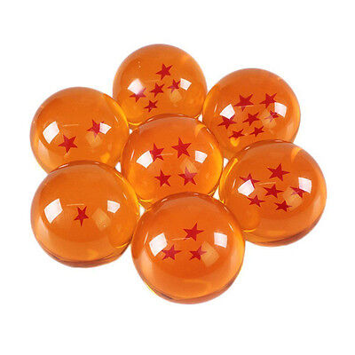 7PCS JP 3.5CM Anime DragonBall Z Stars Crystal Ball Gift Collection Set For Kids